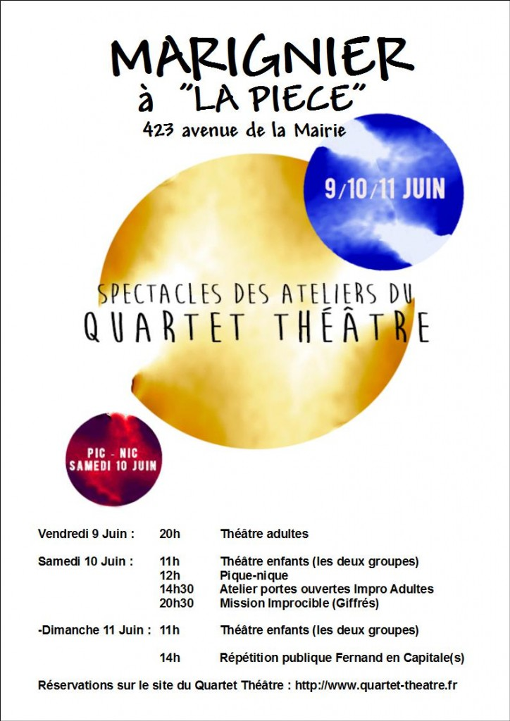 Affiche spectacles ateliers